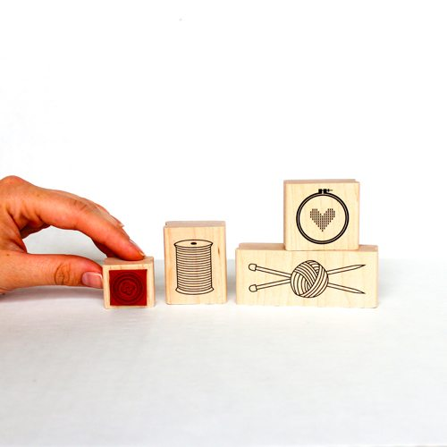 knit rubber stamp