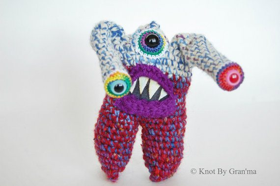 monster crochet art