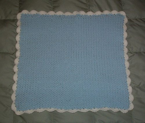 moss stitch crochet blanket