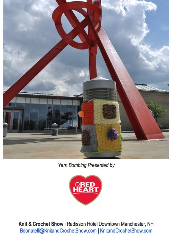 Red Heart Yarnbombing for the 2014 Knit and Crochet Show