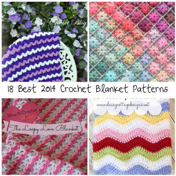 best crochet blanket patterns 600x600 18 Best Crochet Blanket Patterns
