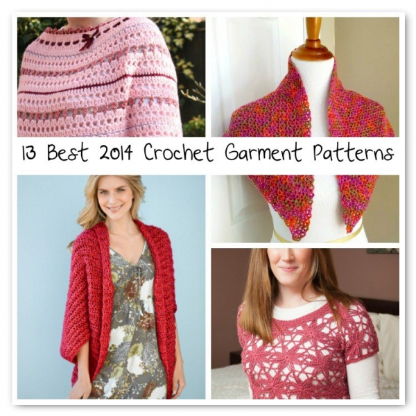 best crochet garment patterns 600x600 Crochet Blog Roundup: July in Review