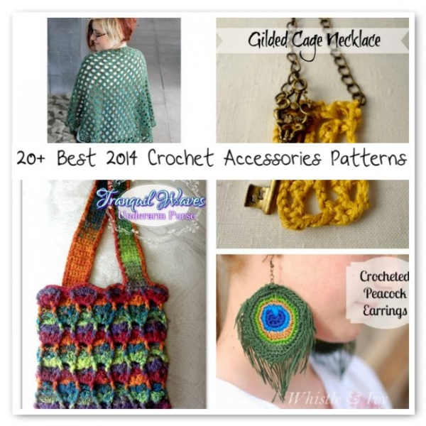 crochet accessories patterns 600x600 Crochet Blog Roundup: July in Review