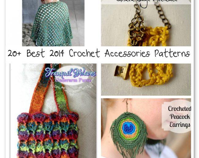 20 Best 2014 Crochet Accessories Patterns Crochet Patterns How
