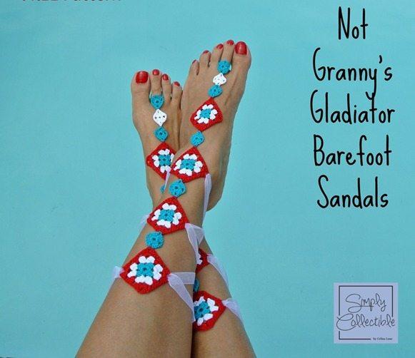 crochet barefoot sandals Link Love for Best Crochet Patterns, Ideas and News