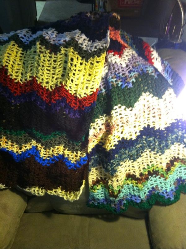 crochet chevron shawl pattern