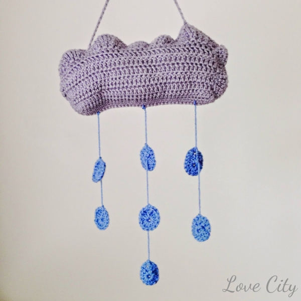 crochet cloud mobile free pattern
