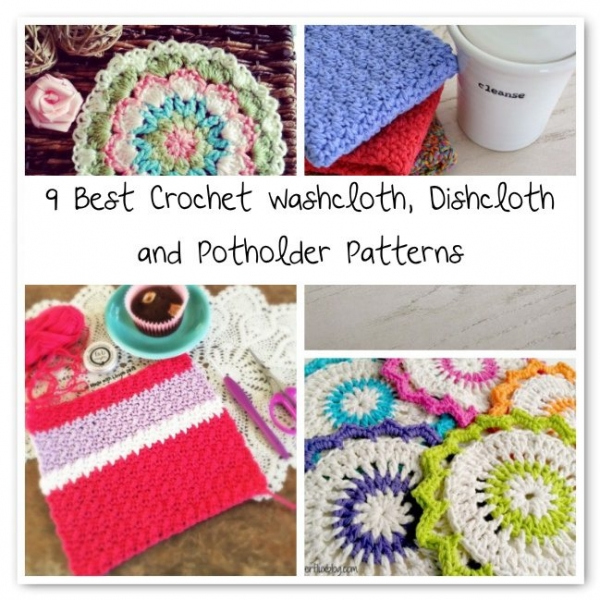 Best Crochet Patterns : Best Crochet Washcloth, Dishcloth and Potholder Patterns