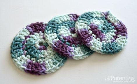 crochet face scrubbies