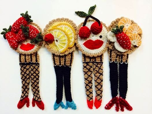 crochet fruit tarts