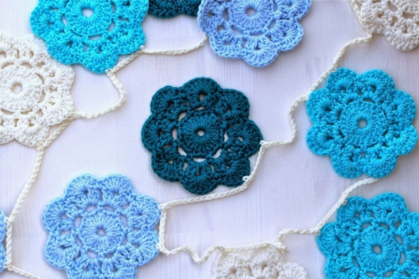 crochet garland tutorial