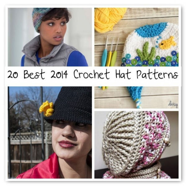 crochet hat patterns 2014 600x600 Crochet Blog Roundup: July in Review