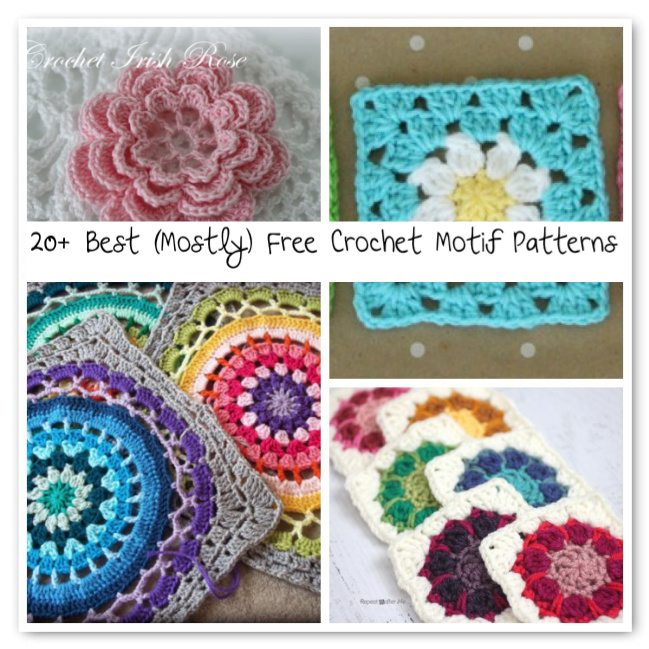 20+ Best (Mostly) Free Crochet Motif Patterns