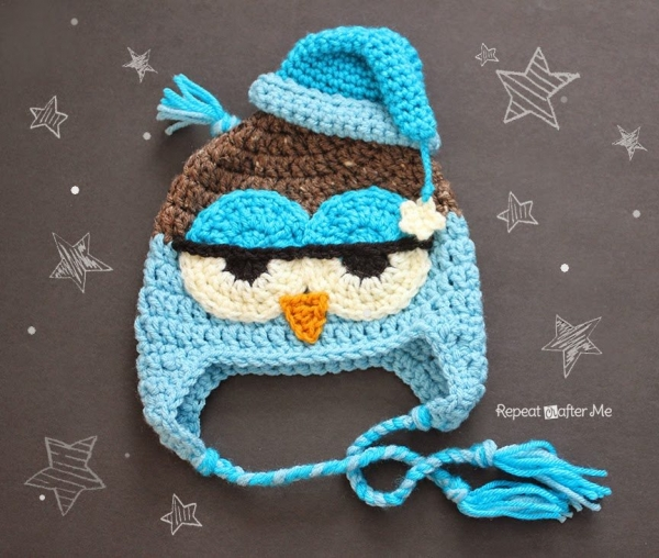 crochet owl hat pattern 600x508 Link Love for Best Crochet Patterns, Ideas and News