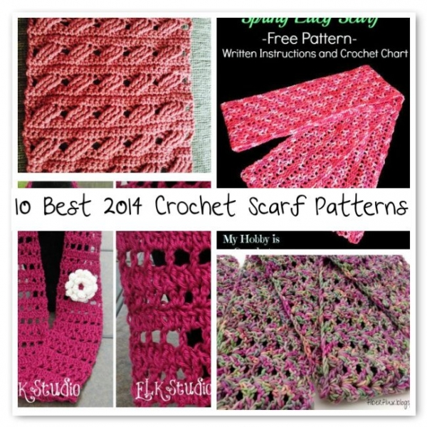 crochet scarf patterns 600x600 Crochet Blog Roundup: July in Review