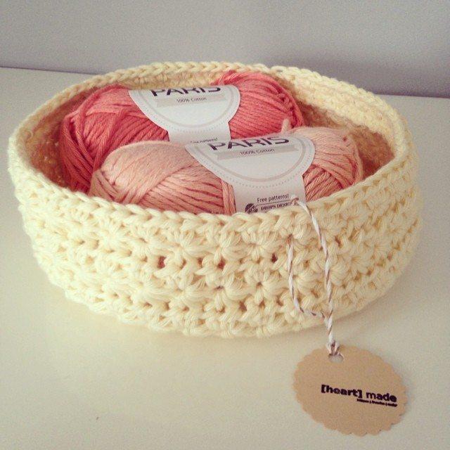 heartmadebeanies crochet basket