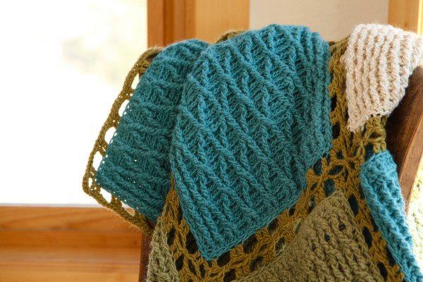 crochet texture blanket