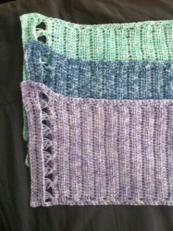 broomstick lace crochet dishcloths