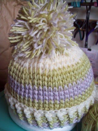 knit look crochet hat