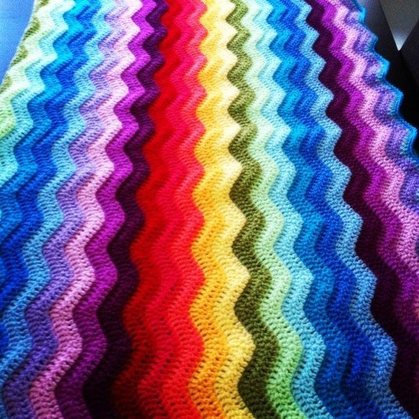 ricepuddingbaby crochet rainbow ripples Crochet Instagrammed