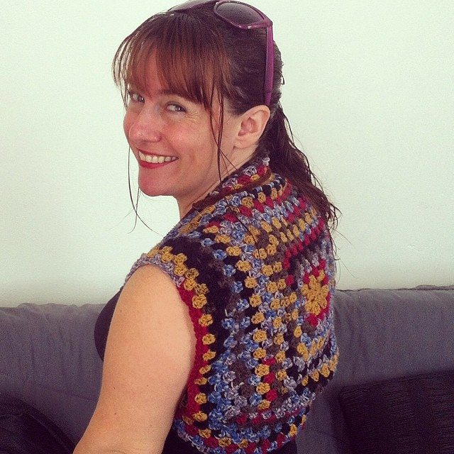 crochet granny square shrug