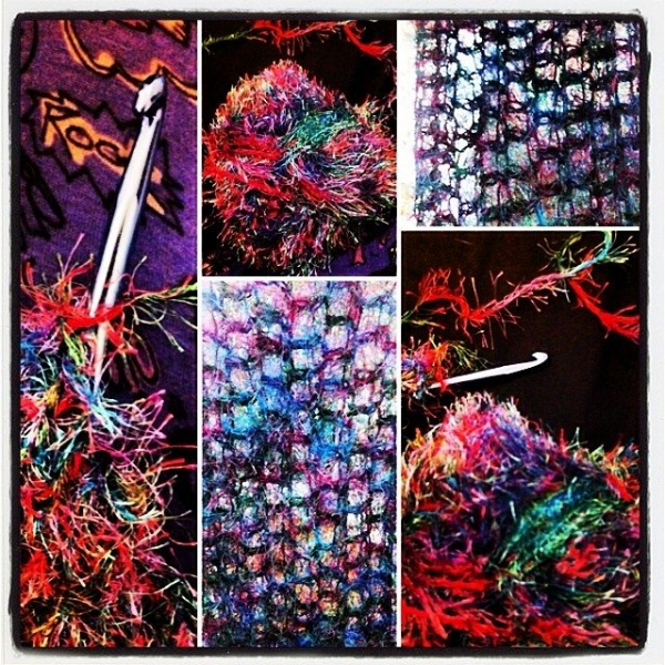 vercillo instagram novelty yarn collage