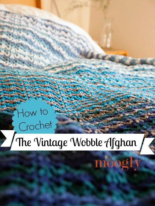 vintage wobble afghan crochet
