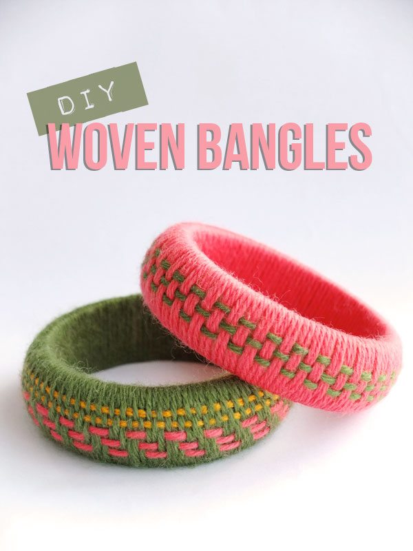 yarn bracelet tutorial