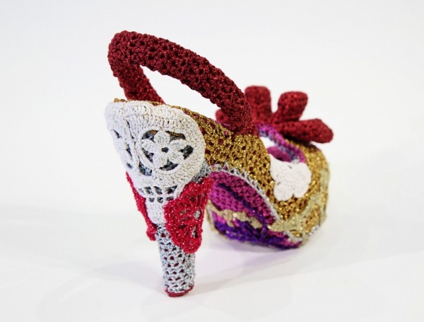 crochet art shoes