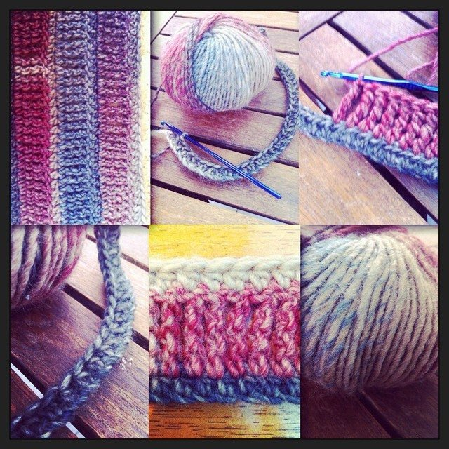 au crochet, collage