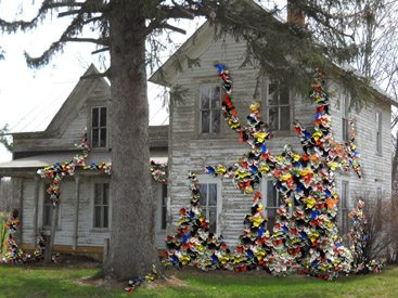 crochet farm art
