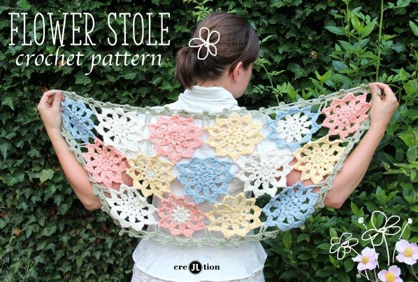 crochet flower wrap pattern