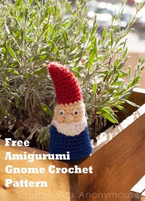 crochet garden gnome