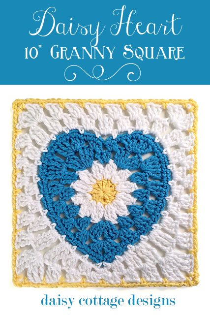 crochet heart square pattern