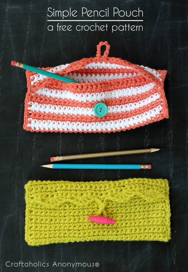 crochet pencil pouch pattern