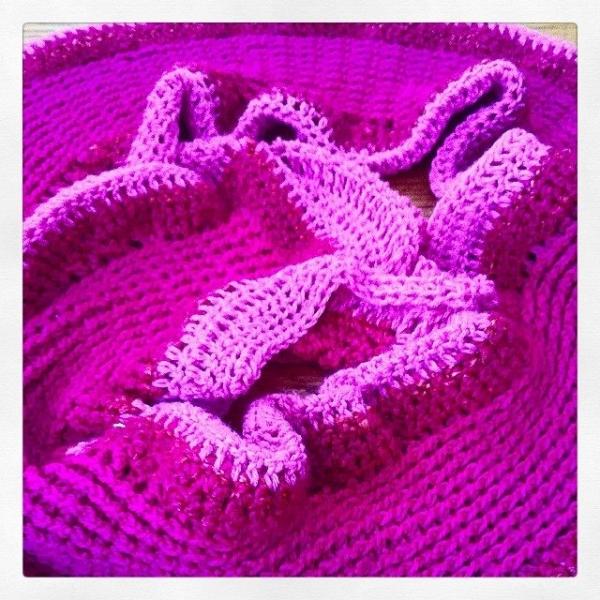 crochet pink scarf 600x600 Crochet Instagrammed