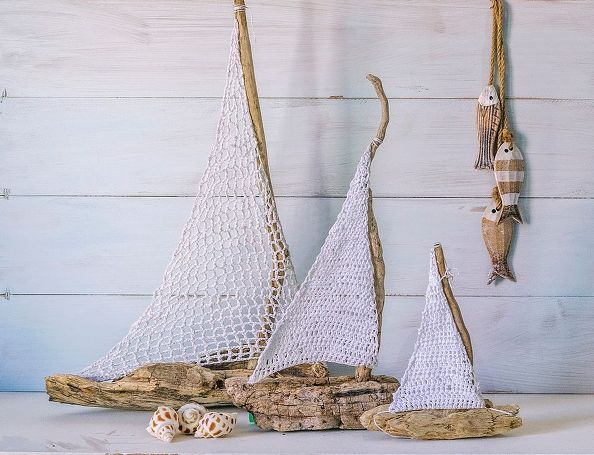 crochet sailboats