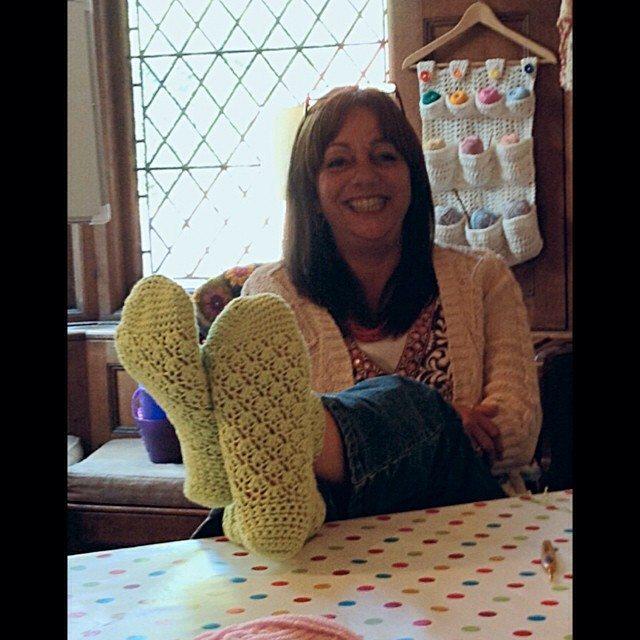 calcetines de ganchillo crochetali