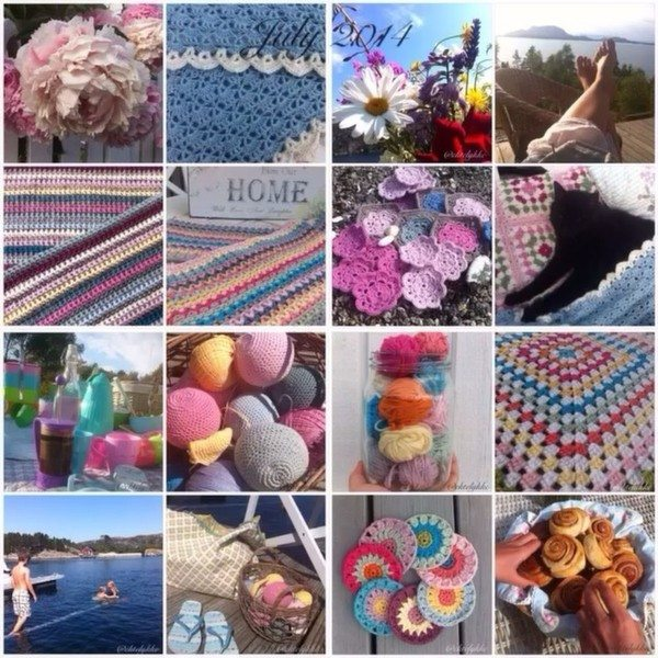 ektelykke crochet collage Crochet Instagrammed