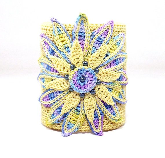 irish crochet cuff bracelet