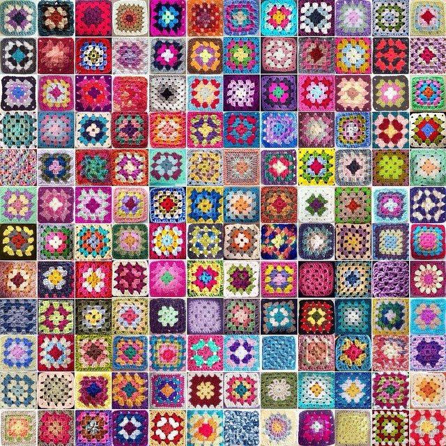 mobiusgirl crochet granny squares photo
