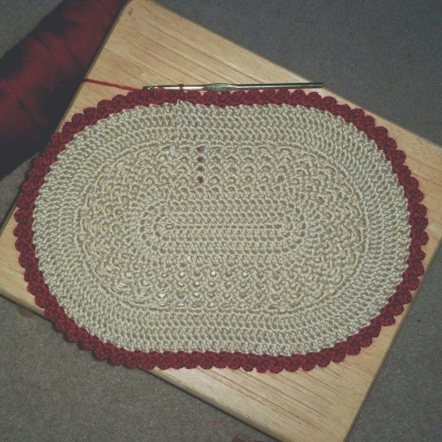 samyaun crochet placemat Crochet Instagrammed