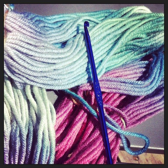 yarn and crochet hook Crochet Instagrammed