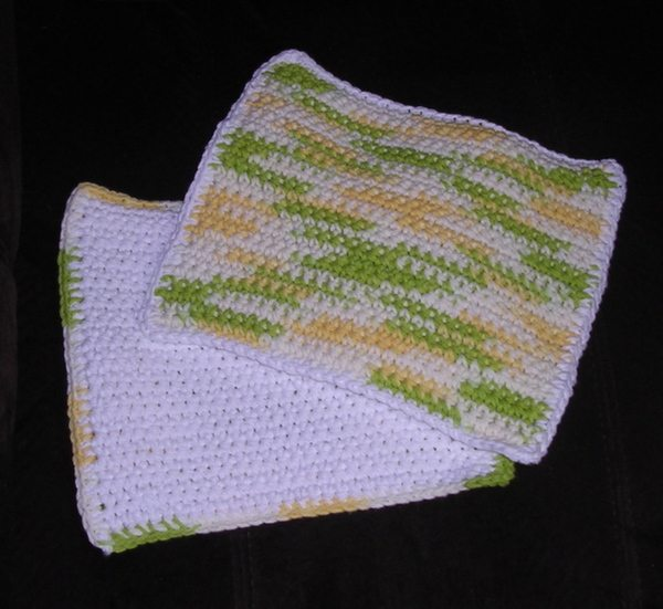 crochet potholders double-thick