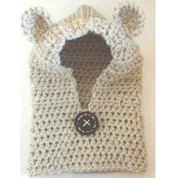 caseyplusthree instagram crochet bear cowl