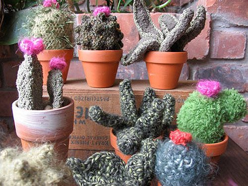crochet cactus art