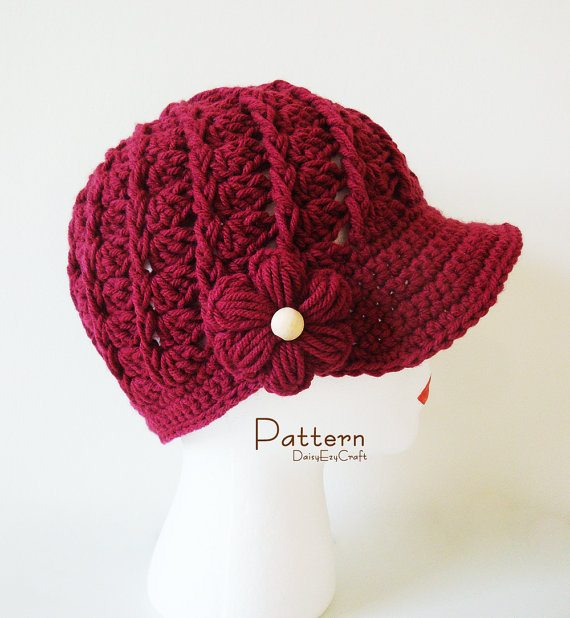 crochet cap pattern 20 Excellent Crochet Patterns and Examples on Etsy