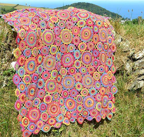 gehaakte cirkels deken patroon