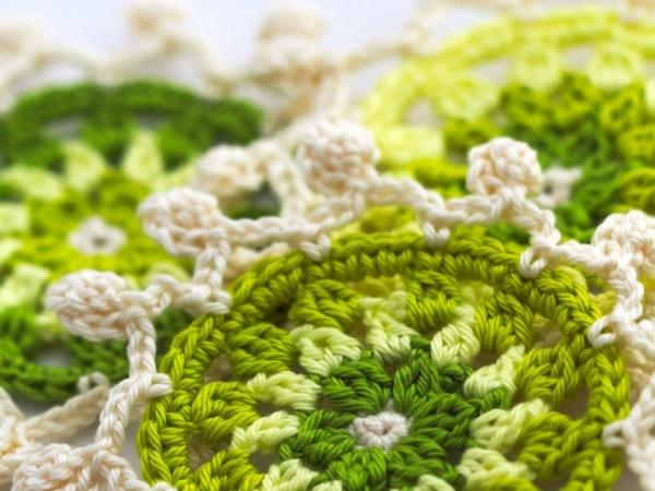 padrão de montanha-russa de crochê