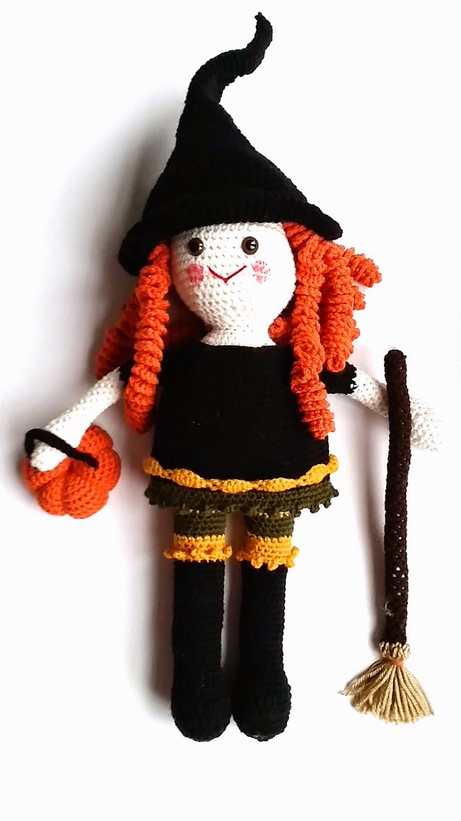 Tutorial Amigurumi Bruja Witch : crochet doll pattern